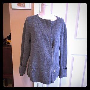 WHBM Gray Jacket/Sweater